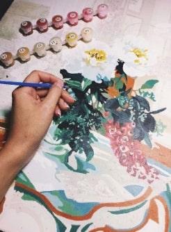 Cum sa tineti pensula si sa pictati - picturi pe numere