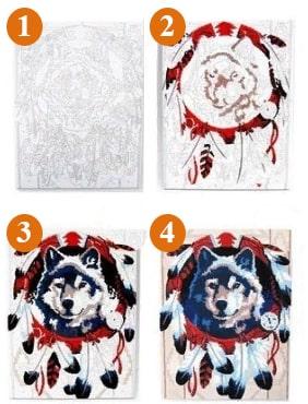 pictura pa numere - tehnica picturii